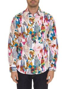 ROBERT GRAHAM MEN'S AVIAN LONG SLEEVE CLASSIC FIT ABSTRACT PRINT SHIRT $198 NWT
