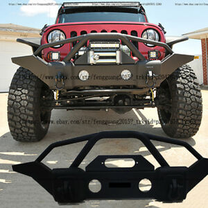 Black Front Bumper Body kit Fit for Jeep Wrangler JK (2007-2017) JL (2018-2019)