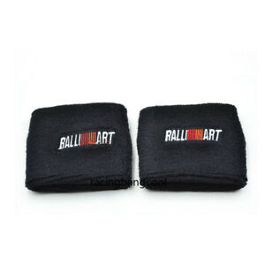 1pc Black Ralliart Power Reservoir Brake Clutch Oil Tank Cap Sock For Mitsubishi