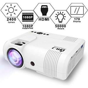 DR.J For Video Projectors Halloween Decoration 2400Lux Home Theater Mini Max. HD