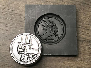 HellBoy Coin Graphite mold for Silver Gold Glass ingot casting Art  PRO-MOLD AR8