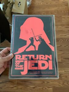 STAR WARS RETURN OF THE JEDI 35TH ANNIVERSARY LITHOGRAPH SET LIMITED EDITION!