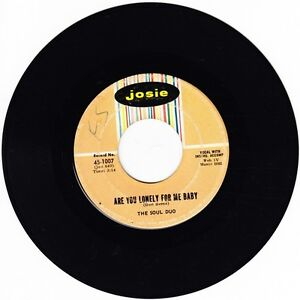 rare THE SOUL DUO: Are You Lonely For Me Baby ♫1960s 45 Ida Sands NORTHERN SOUL