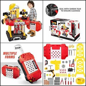 Kids Power Workbench Construction Tool Work Shop Play Pretend for Toddlers