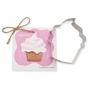Cupcake Cookie and Fondant Cutter - Ann Clark - 4 Inches - US Tin Plated Steel