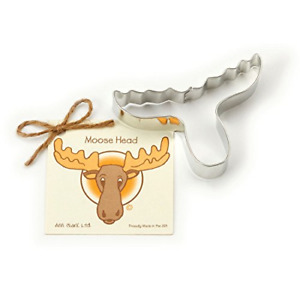 Moose Head Cookie and Fondant Cutter - Ann Clark - 4.9 Inches - US Tin Plated