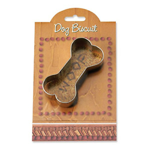 Dog Biscuit Cookie and Fondant Cutter - Ann Clark - 3.8 Inches - US Tin Plated