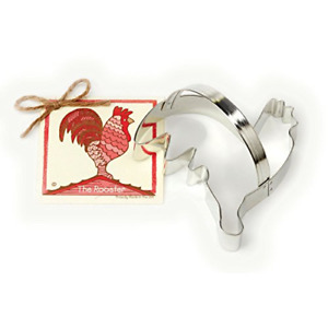 Rooster Cookie and Fondant Cutter - Ann Clark - 5.3 Inches - US Tin Plated Steel