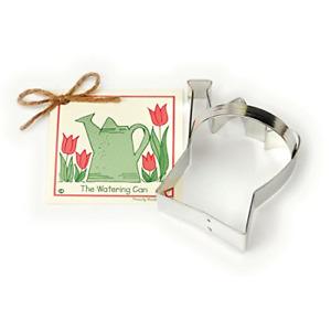 Watering Can Cookie and Fondant Cutter - Ann Clark US Tin Plated Steel 4 Inches