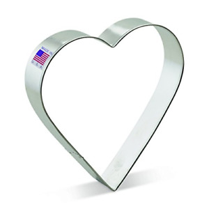 Ann Clark Extra Large Heart Cookie Cutter - 5 Inches - Tin Plated Steel