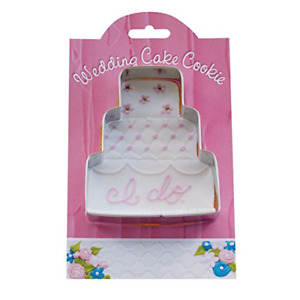 Wedding Cake Cookie and Fondant Cutter - Ann Clark - 4.1 Inches - US Tin Plated