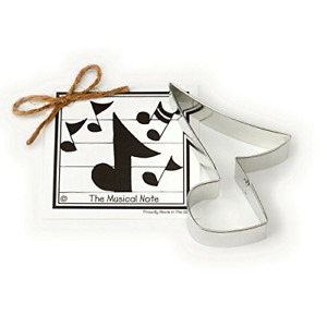 Musical Note Cookie and Fondant Cutter - Ann Clark - 4.9 Inches - US Tin Plated