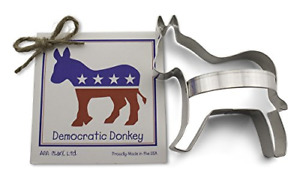 Democratic Donkey Cookie and Fondant Cutter - Ann Clark - 3.9 Inches - US Tin