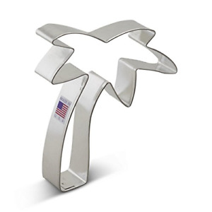 Ann Clark Palm Tree Cookie Cutter - 4.75 Inches - Tin Plated Steel