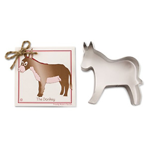 Donkey Cookie and Fondant Cutter - Ann Clark - 4.9 Inches - US Tin Plated Steel