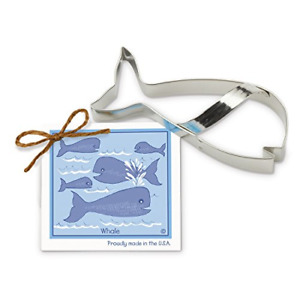 Whale Cookie and Fondant Cutter - Ann Clark - 5.6 Inches - US Tin Plated Steel