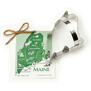 Maine Cookie and Fondant Cutter - Ann Clark - 5.6 Inches - US Tin Plated Steel