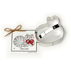 Cat Cookie and Fondant Cutter - Ann Clark - 4.3 Inches - US Tin Plated Steel