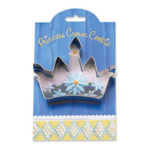 Princess Crown Cookie and Fondant Cutter - Ann Clark - 4.6 Inches - US Tin Steel