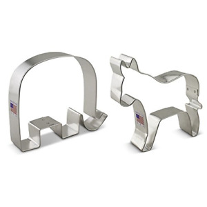 Ann Clark Political Election Cookie Cutter Set - 2 Piece - GOP Elephant and -