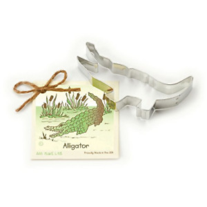 Alligator Cookie and Fondant Cutter - Ann Clark - 5.5 Inches - US Tin Plated