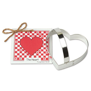 Heart Cookie and Fondant Cutter - Ann Clark - 4.1 Inches - US Tin Plated Steel