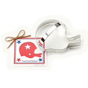 Football Helmet Cookie and Fondant Cutter - Ann Clark - 5.5 Inches - US Tin