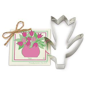 Tulip Cookie and Fondant Cutter - Ann Clark - 5.4 Inches - US Tin Plated Steel