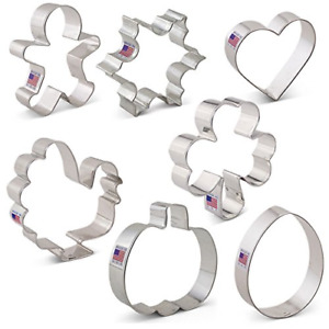 Cookie Cutters For Every Season Set - 7 piece - Ann Clark - Tin Plated Steel