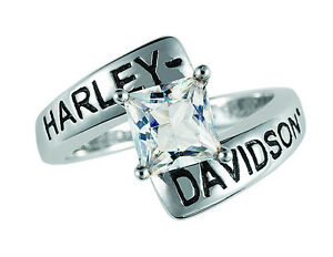 Harley Davidson White Topaz Ring -  by The Franklin Mint