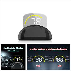 C700s Car HUD OBDII+GPS System Car Head Up Display W Mirror Digital Projection
