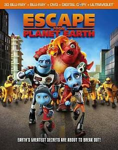 Escape From Planet Earth 3D Blu-ray + Blu-ray + DVD - Region A