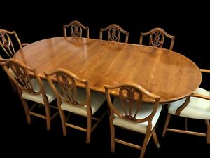 Fantastic Designer Art Deco style Burr Yew tree dining set pro French polished