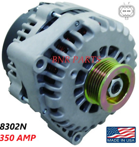 350 Amp 8302N Alternator Hummer Chevy GMC SAAB BUICK High Output HD NEW HI POWER