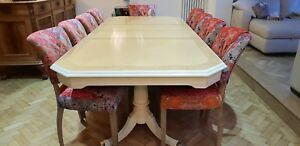 Amazing Designer Art Deco style Maple & Burr Ash dining table French Polished