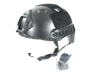New in Box PJ Type Bump FAST Black Helmet With NVG Mount Rails Pads Goggles