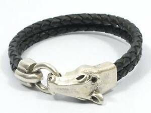 Men or Women's braided leather bracelet with Horsehead Clasp