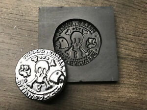 The Curse of Monkey Island Coin Graphite mold for Silver Gold ingot PRO-MOLD AR8