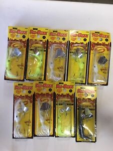 Lot of 9 Pro Buzz Strike King Crankbait Fishing assorted Lures ~ NEW