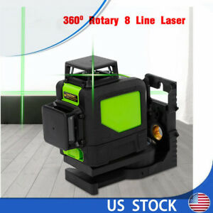 8 Lines Green 3D Laser Level 360° Self-Leveling Construction Site with Battery