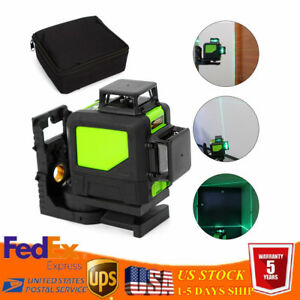 Construction Measure Tool Laser Level 8 Lines Green Self Leveling 3D 360° Rotary