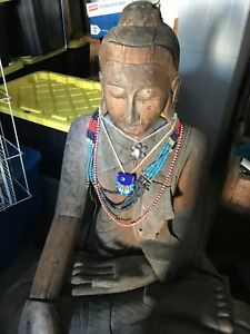 VERY VERY ancient HAND CARVED Buddha from Burma.... Have INFO?