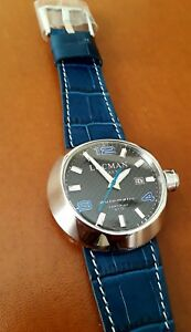 Locman Automatic watch  Steel 425AB 3 Interchangeable Bracelets New 46mm