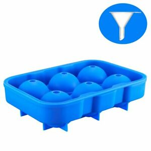 ACCMOR Ice Ball Maker Set of 6(blue) - Food-Grade Silicone Mold Tray for 6 X 2..
