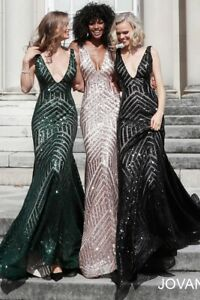 JOVANI 59762 ROSEGOLD authentic dress. FREE UPSUSPS. MANY SIZES ! LUX SERVICE