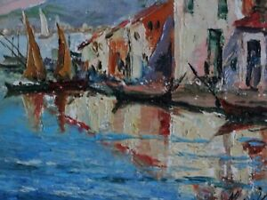 French Cote D#x27;Azur Impressionism Oil Painting Seascape Signed $595.00