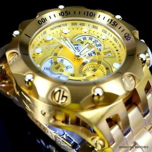 Invicta Reserve Venom Hybrid 52mm Gold Plated Steel Swiss Mvt Chrono Watch New