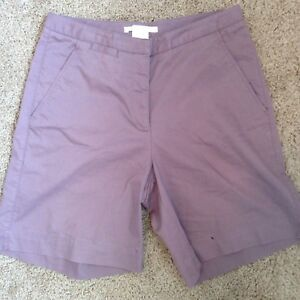 Nike Golf Women's Casual Shorts Sz 8 Purple Cotton Stretch Comfort Fit Dry