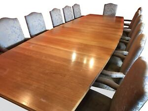 Magnificent 13ft Designer Art Deco Oak boardroom  dining table French Polished