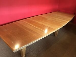 Fantastic 13ft Designer Art Deco Oak boardroom  dining table French Polished